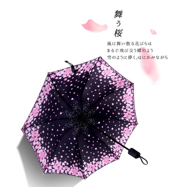 折りたたみ傘 日傘 晴雨兼用 uvカット 遮光 レディース 手開き 雨傘 撥水 花柄 星柄 大きいサイズ 折り畳み ポイント消化 送料無料|rukodo|08