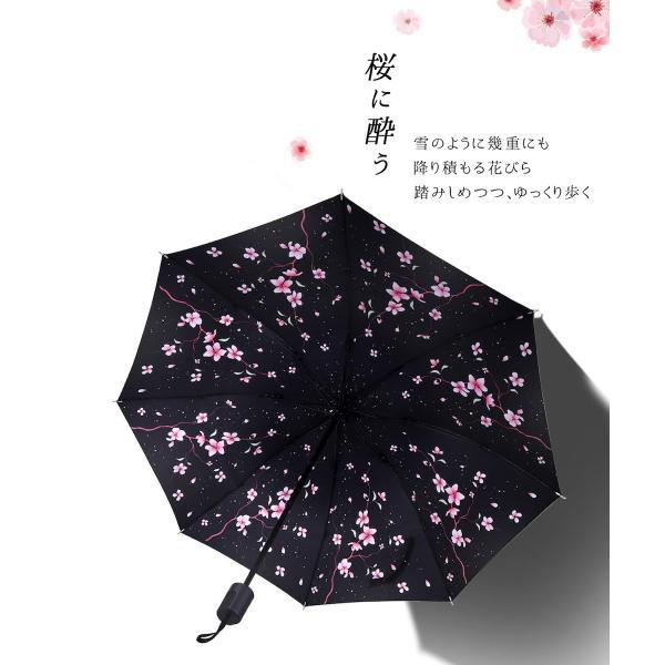 折りたたみ傘 日傘 晴雨兼用 uvカット 遮光 レディース 手開き 雨傘 撥水 花柄 星柄 大きいサイズ 折り畳み ポイント消化 送料無料|rukodo|10