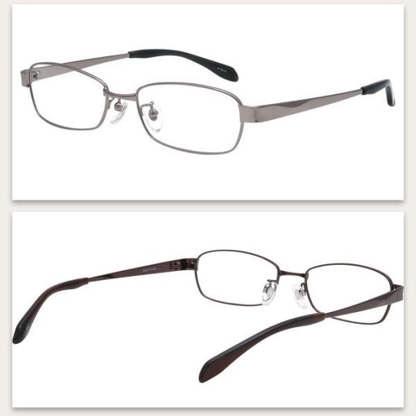 メガネ 度付き YT915-53 メタル(フルリム)  眼鏡フレーム (近視・遠視・乱視・老視に対応)|rule|06