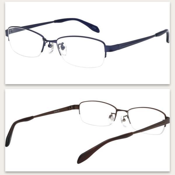 メガネ 度付き YT932-54 ハーフリム(ナイロール) 眼鏡フレーム (近視・遠視・乱視・老視に対応)|rule|06