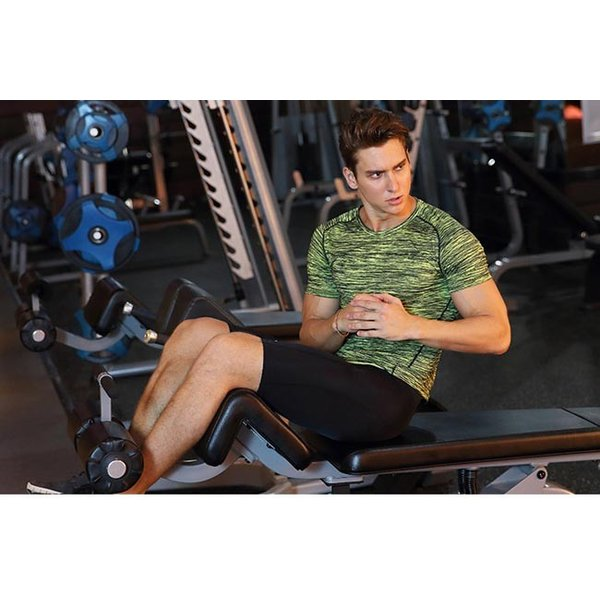 Tシャツ メンズ 半袖 大きいサイズ 速乾 ストレッチ 伸縮性 シンプル トレーニング スポーツ トップス 春 夏 秋 2019春夏新作|rumere|09