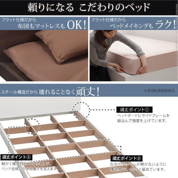 ベッド シングル コンセント 布団セット 敷布団 洗える ローベッド 3点セット|rumo5|04