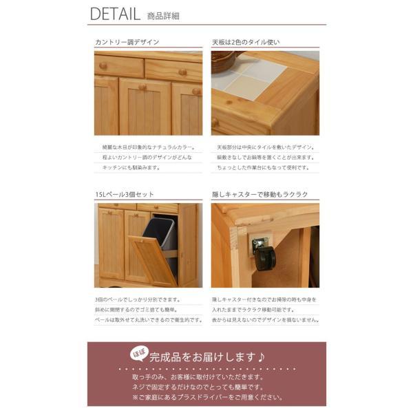 ダストボックス キッチン おしゃれ キッチンカウンター ゴミ箱 収納 キャスター付き|rumo5|02