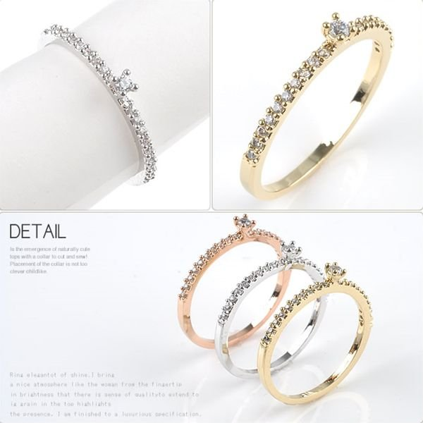 リング 指輪 シンプル ピンキーリング レディース|rumsee|03
