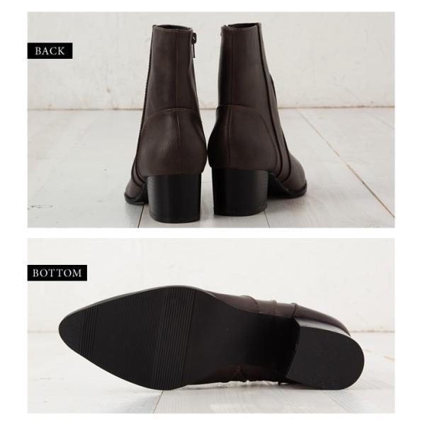 ウエスタンブーツ レディース ヴィンテージライク 靴 ショートブーツ ブラック ココア キャメル ダークブラウン|rumsee|07