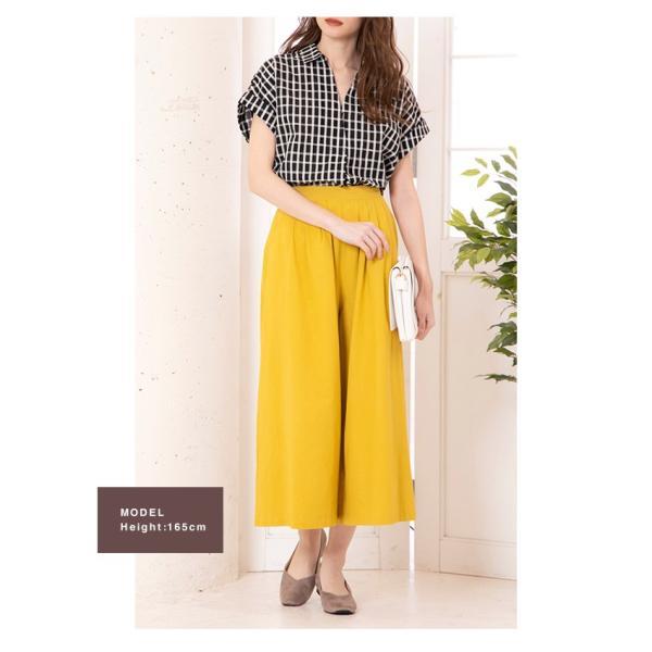 スキッパーシャツ レディース 裾ブラウジング ブラウス 半袖 春夏|rumsee|16