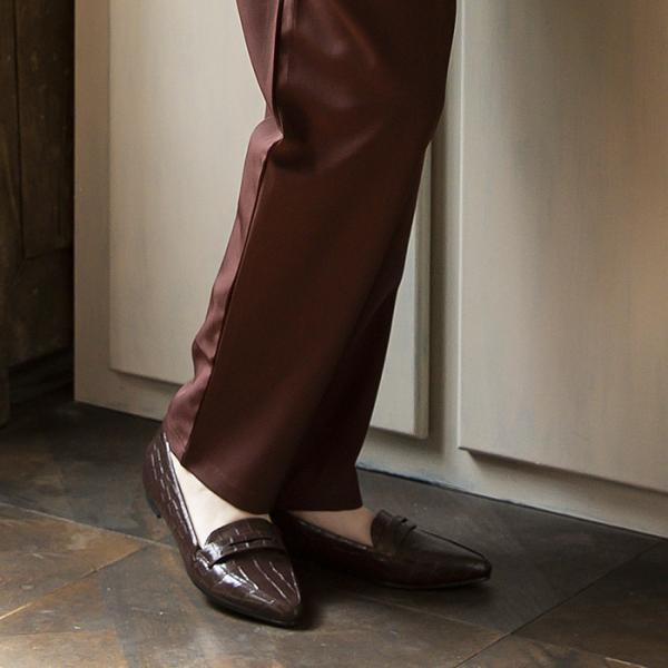ローファー パンプス  フラットシューズ 靴 ポインテッド エナメル スエード 大きいサイズ 秋冬|rumsee|02