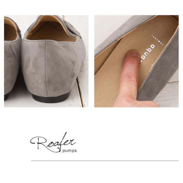 ローファー パンプス  フラットシューズ 靴 ポインテッド エナメル スエード 大きいサイズ 秋冬|rumsee|11