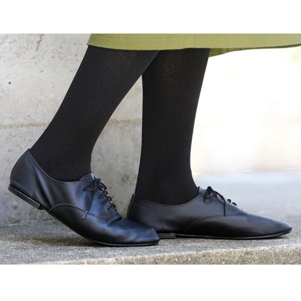 オックスフォードシューズ レディース ぺたんこ フラットシューズ 靴 ブラック ホワイト シルバー|rumsee|07
