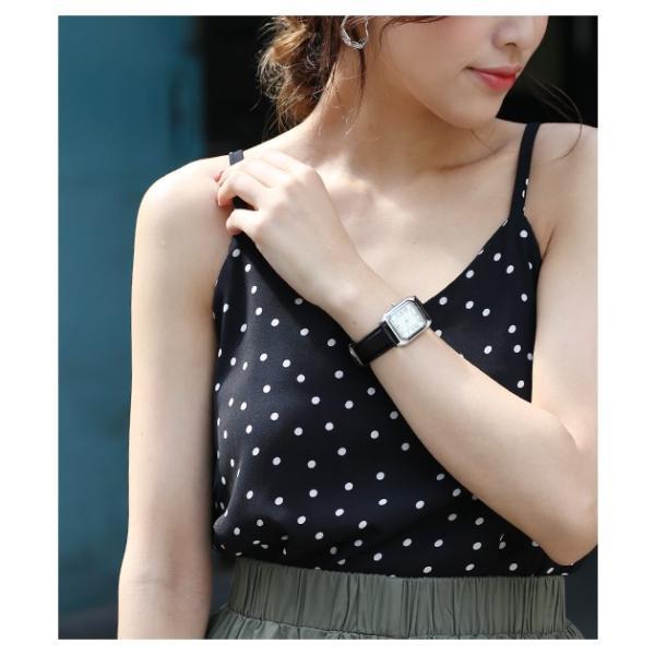 腕時計 レディース メンズ スクエアフェイスレザータッチ デザインウォッチ ブラック ホワイト キャメル rumsee 06