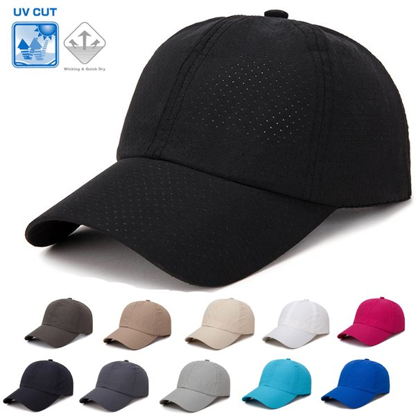 無地全11カラーシンプルランニングキャップフルメッシュメッシュスポーツキャップ日よけスポーツ帽子メンズレディース
