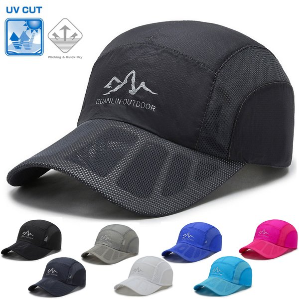 CUTOUTランニングメッシュ日よけランニングキャップ深めスポーツキャップ軽量帽子速乾通気性メンズレディース