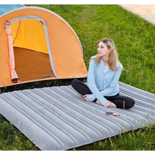 高品質★☆インフレートベッド アウトドアエアマット 折り畳み コンパクト 厚い ポータブル釣り旅行用品アウトドア寝具