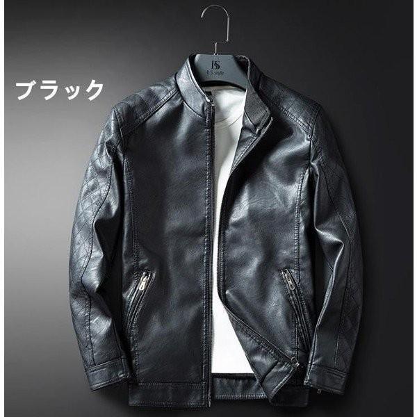 90d26f9a35bdda メンズジャケット レザースカジャン ライダース メンズ シングル ダブル 立ち襟 バイク ジャケット 革ジャン ライダースジャケット