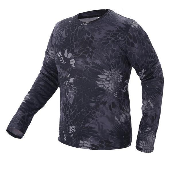 Tシャツ メンズ 長袖 モフラージュティーシャツ 迷彩 立体裁断 吸汗速乾 通気 スポーツ 軽量|rushup|05