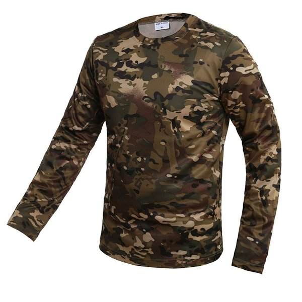 Tシャツ メンズ 長袖 モフラージュティーシャツ 迷彩 立体裁断 吸汗速乾 通気 スポーツ 軽量|rushup|06