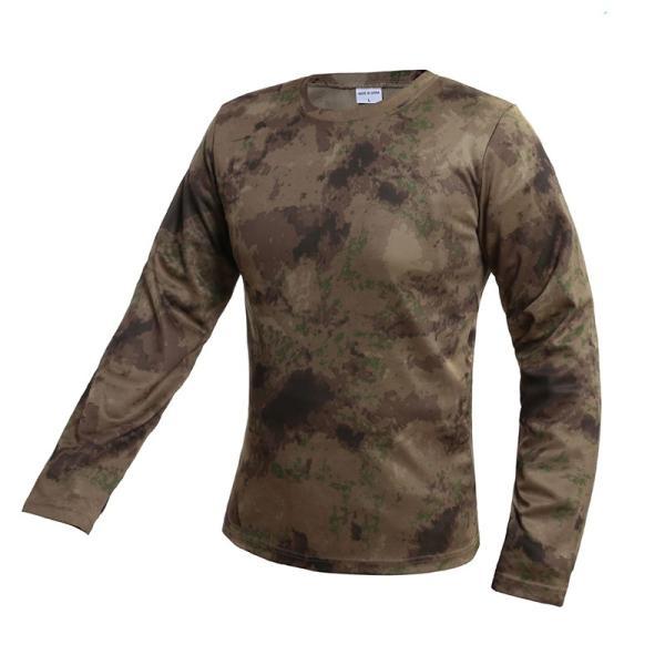 Tシャツ メンズ 長袖 モフラージュティーシャツ 迷彩 立体裁断 吸汗速乾 通気 スポーツ 軽量|rushup|09