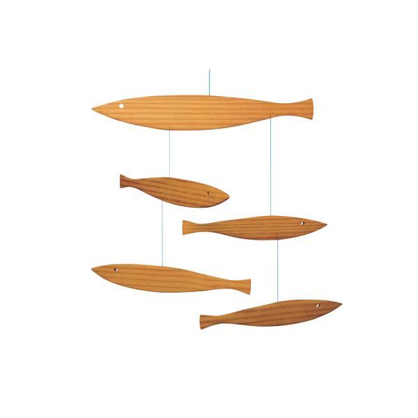 FLENSTED mobilesフレンステッドモビール 北欧デンマークモビール Floating Fish 天然木製の魚