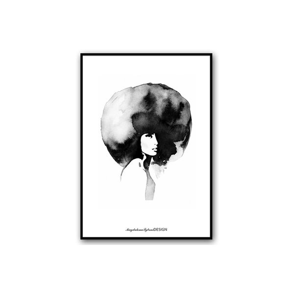 Magdalena Tyboni Design ポスター/アートプリント 50 x 70 cm Woman with big haircut【北欧 ス
