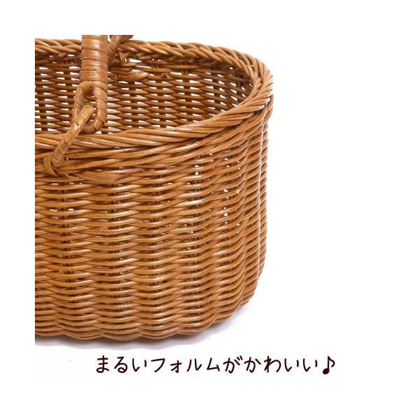 【当店オリジナル】シンプルな籐のかごバッグ バスケットバッグ ラタンバッグ 藤 アレンジ材料に かごのお店ラッセル 694