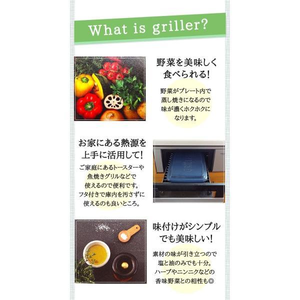 グリラー ツールズ グリラー (送料無料) イブキクラフト TOOLS GRILLER ガスコンロの魚焼きグリルや電子レンジ、直火も!|rvoice-shop|03