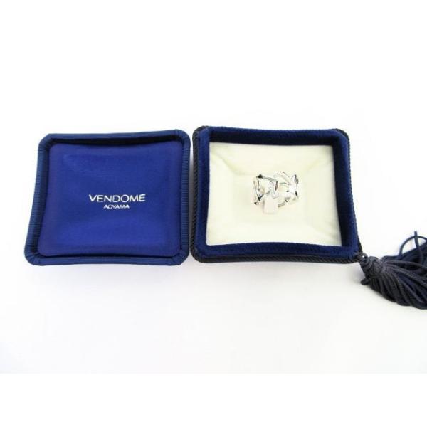 VENDOME/ヴァンドーム青山  ダイヤモンド&K18WGハートリング(9号) 中古
