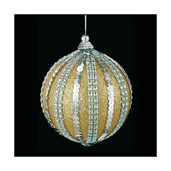 クリスマス装飾 9cmゴールドダイヤモンドアンティークボール ツリー[ONSTOBA6175]
