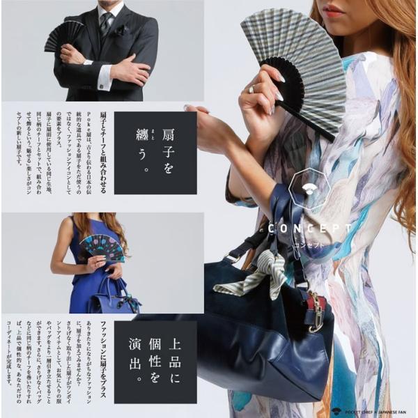 オリジナルブランド扇子 poke扇 渚 (POKESEN)|ryokushusen|05