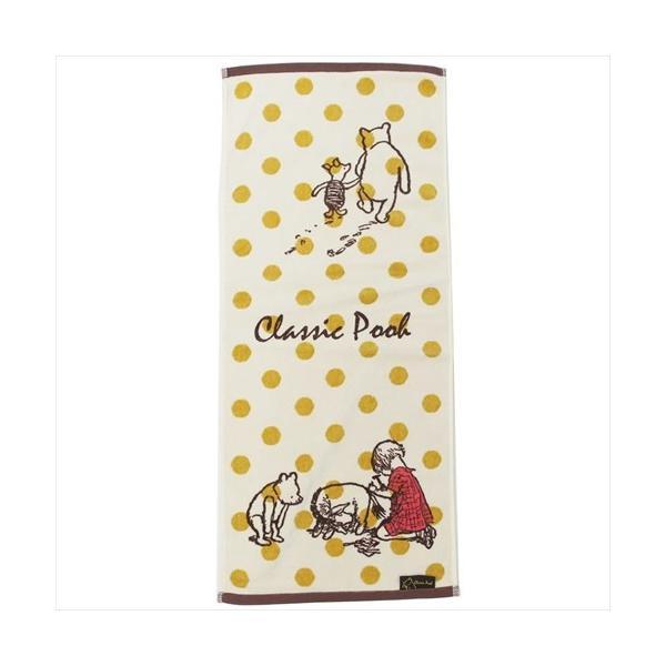 くまのプーさん ジャガードロングタオル クラシックプー フレンズシーン 2005069100 Classic Pooh フェイスタオル  Winnie the Pooh ディズニー
