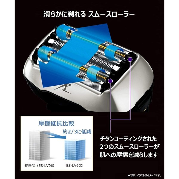 パナソニック ラムダッシュ メンズシェーバー 5枚刃 シルバー調 ES-LV9DX-S|rysss|02