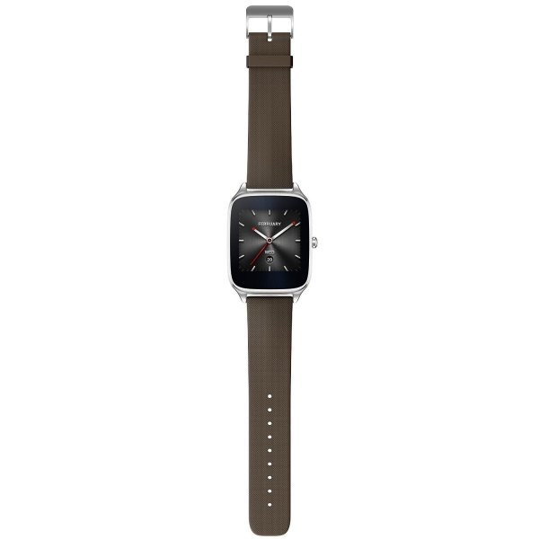 "ASUS 新型 Android Wear スマートウォッチ「ZenWatch 2」1.65"", Silver case with Brown"