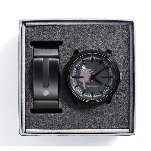 wena project wena wrist Three Hands Mechanical Premium Black BLACK JAC
