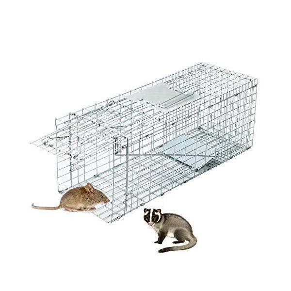 CO-Z 捕獲器 動物用 アニマルトラップ 捕獲かご 捕りワナ アニマルキャッチャー 動物キャッチャー 猫保護 踏板式 中小動物 M 66* rysss 02