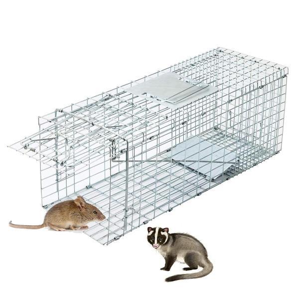 CO-Z 捕獲器 動物用 アニマルトラップ 捕獲かご 捕りワナ アニマルキャッチャー 動物キャッチャー 猫保護 踏板式 中小動物 M 66* rysss 04