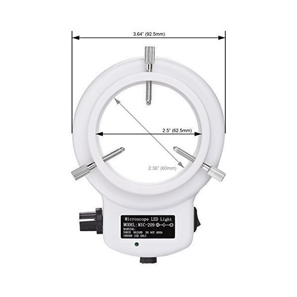 AmScope LED-144W-ZK-A ホワイトアジャスタブル144 LEDリング照明 顕微鏡 マイクロスコープ用 並行輸入品