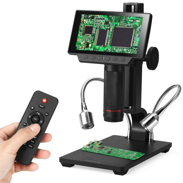 USBマルチマイクロスコープ デジタル顕微鏡 大型5インチモニター搭載 リモコン接続可 560倍ズーム1080P HDMI/AV 調整可能な