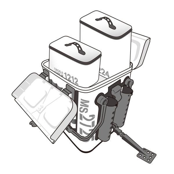 第一精工 タックルキャリアー MS4025 クロ×クロ