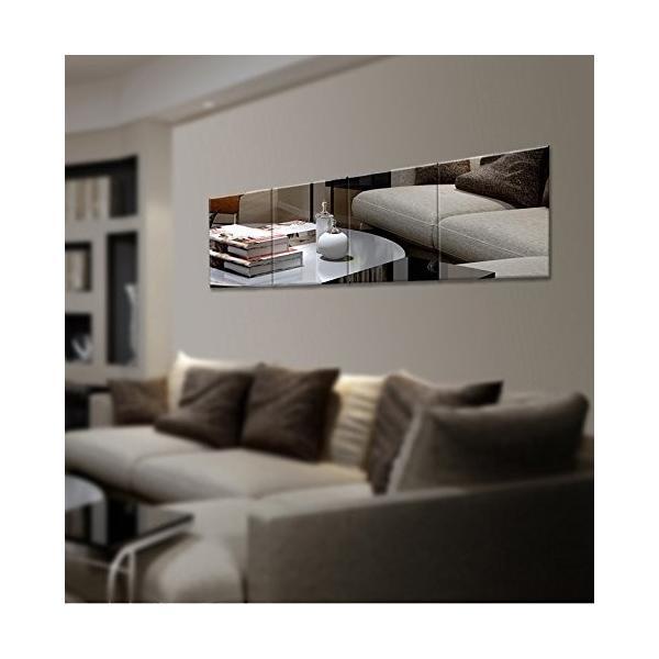 25枚セット壁貼りシール 鏡シール インテリア鏡貼 浴室 化粧 壁 装飾ミラー 安全 割れない 折れない 鏡効果 おしゃれ 薄型 空間節約|rysss|05
