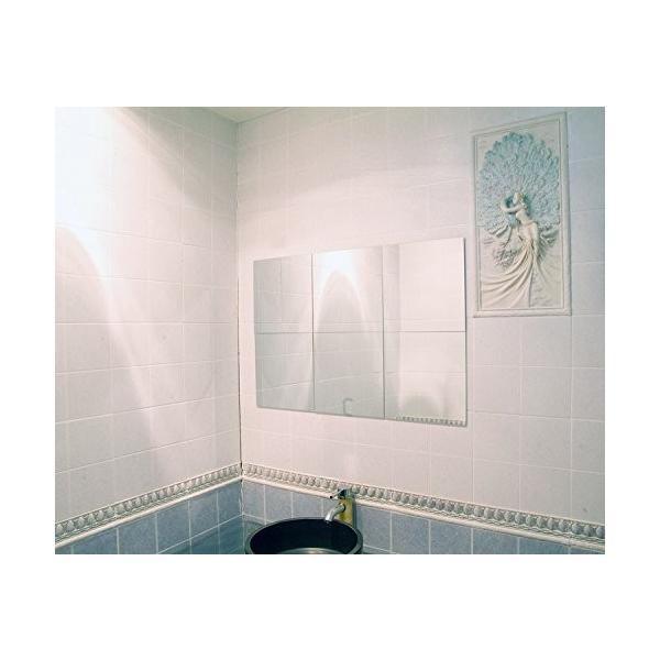 25枚セット壁貼りシール 鏡シール インテリア鏡貼 浴室 化粧 壁 装飾ミラー 安全 割れない 折れない 鏡効果 おしゃれ 薄型 空間節約|rysss|08