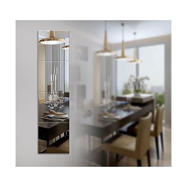 25枚セット壁貼りシール 鏡シール インテリア鏡貼 浴室 化粧 壁 装飾ミラー 安全 割れない 折れない 鏡効果 おしゃれ 薄型 空間節約|rysss|10