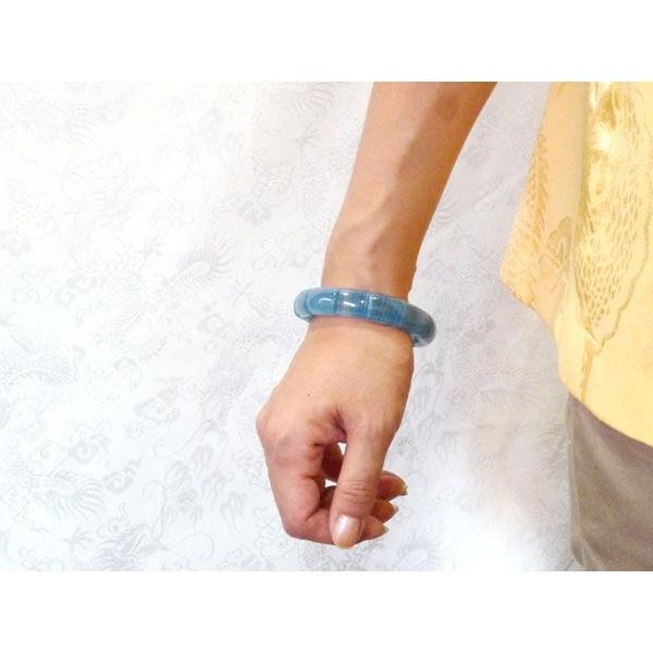 【感情の調和】ブルーカルサイト ブレスレット 【幅13mm】 ◆一点もの◆