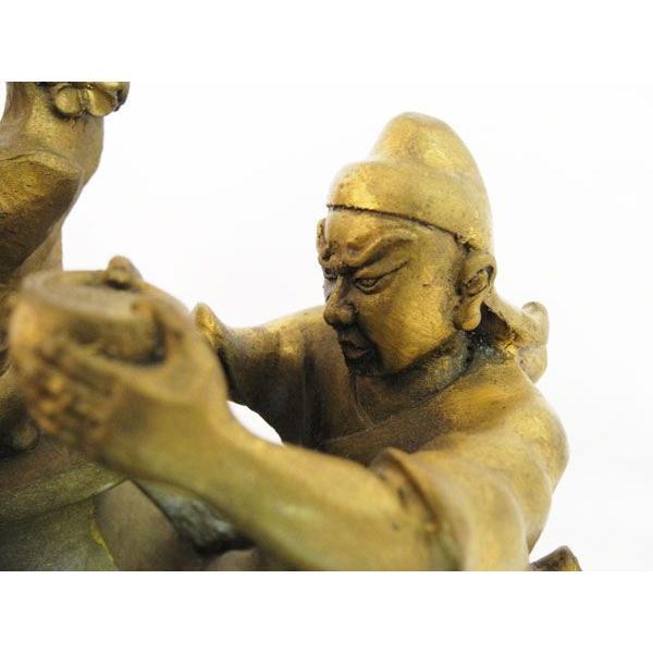 劉備 関羽 張飛 桃園の誓い 桃園三結義 銅製置物|ryu|02