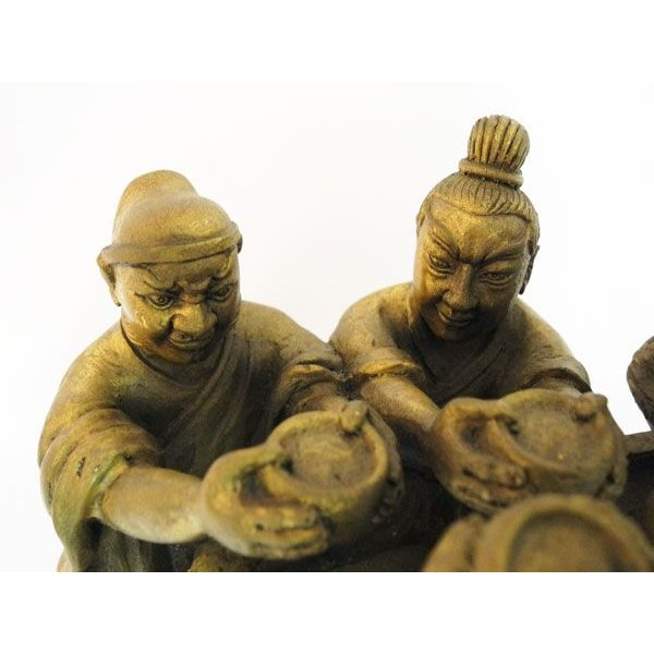 劉備 関羽 張飛 桃園の誓い 桃園三結義 銅製置物|ryu|03