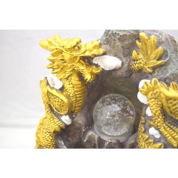 龍 竜 山水双龍 噴水置物 樹脂製 総合運 インテリア|ryu|04