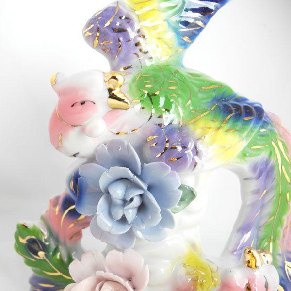 鳳凰の舞 陶器製置物 願望成就|ryu|02