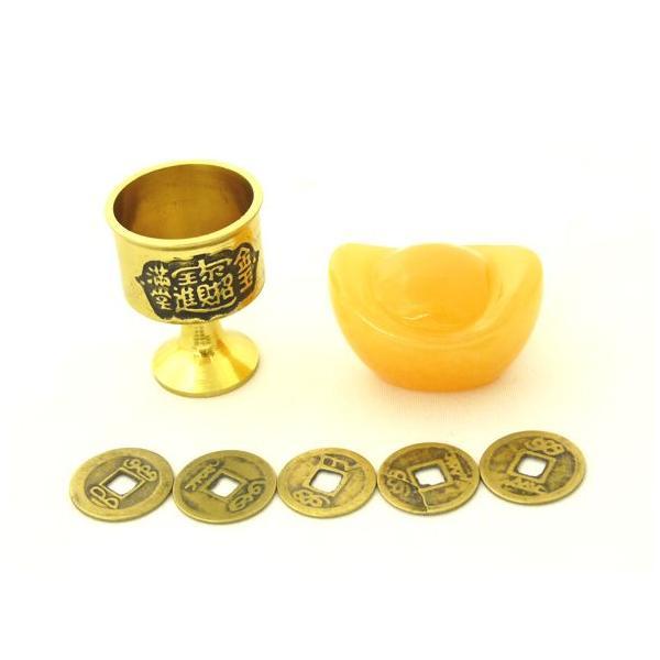 銅杯・元宝・古銭