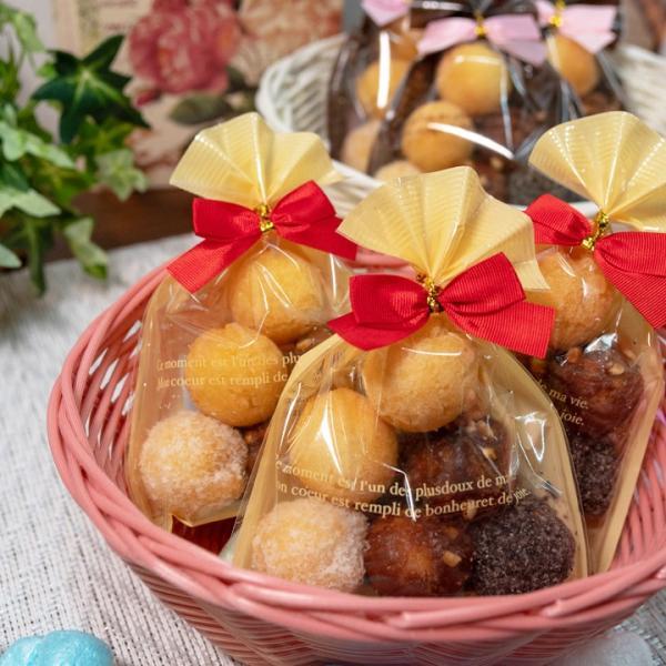 送料無料 ばらまき プチギフト お菓子 結ちっぴるー 10袋セット 小分け サーターアンダギー クリーム ブラウン|ryugu|04