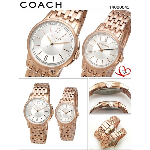 【クリアランス】 ペアウォッチ コーチ COACH 腕時計 ニュー クラシック シグネチャー 14000045 14000048