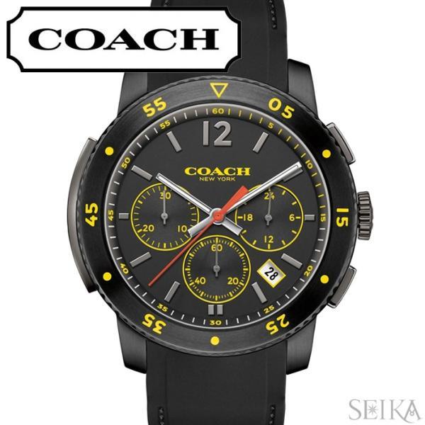 8a68a62700ef コーチ COACH ブリーカースポーツ メンズ 時計 腕時計 【14602031】ブラック ラバー 回転ベゼル 父の