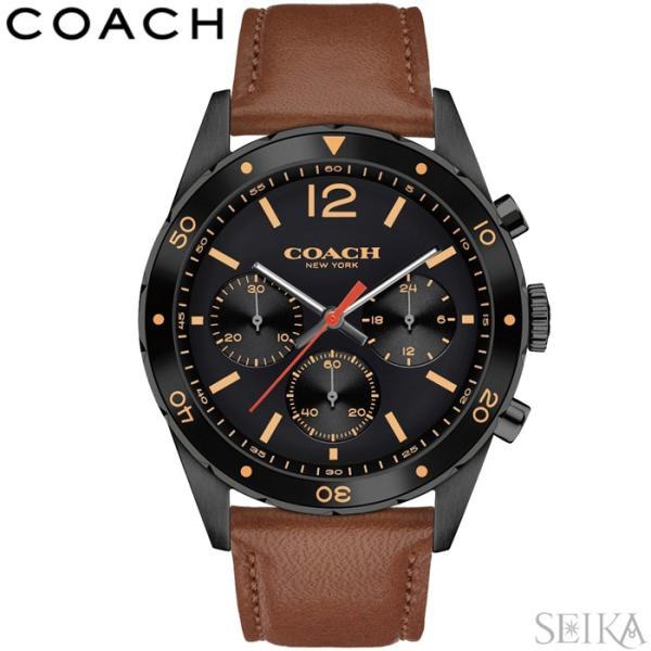 44eaa40ae8b9 コーチ COACH 14602070時計 腕時計 メンズ ブラウン レザー 父の日の画像